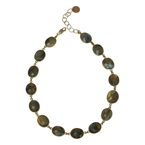 Labradorite & Gold Necklace