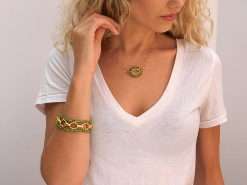 Peridot & Gold Necklace