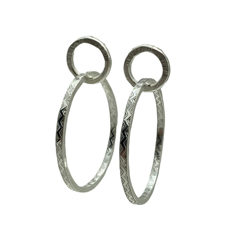 Sterling and Fine Silver Hoop Earrings