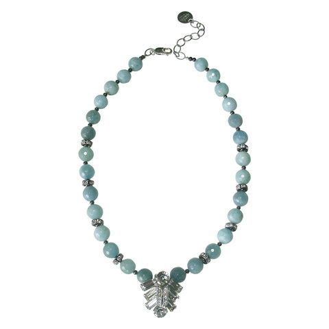 Aquamarine, Eisenberg Rhinestone Necklace