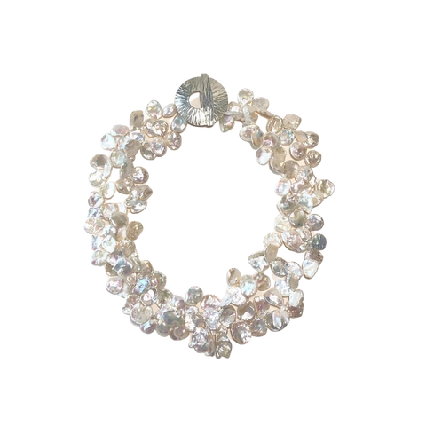 White Keishi Pearl Necklace