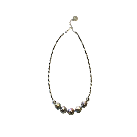 Baroque Pearl & Pyrite Necklace