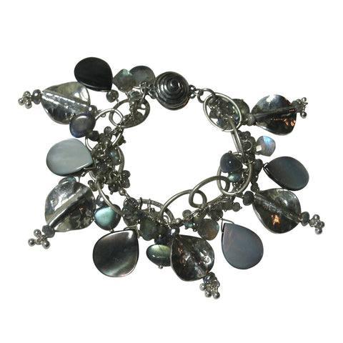 Labradorite & Silver Dangle Bracelet