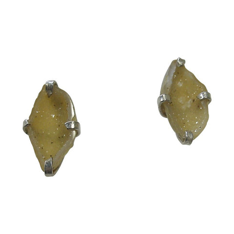 Geodes & Sterling Silver Stud Earrings
