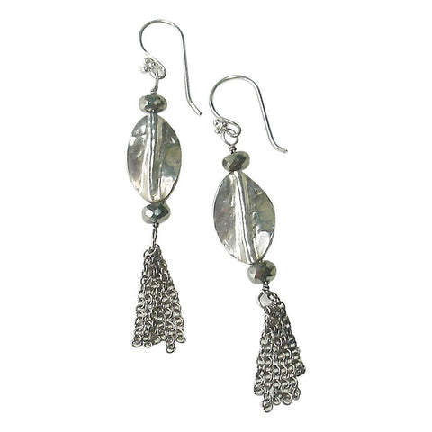 Sterling Silver & Pyrite Earrings