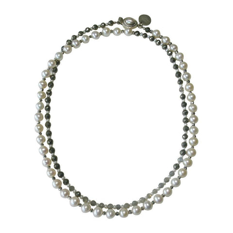Two-toned Pearl Necklace