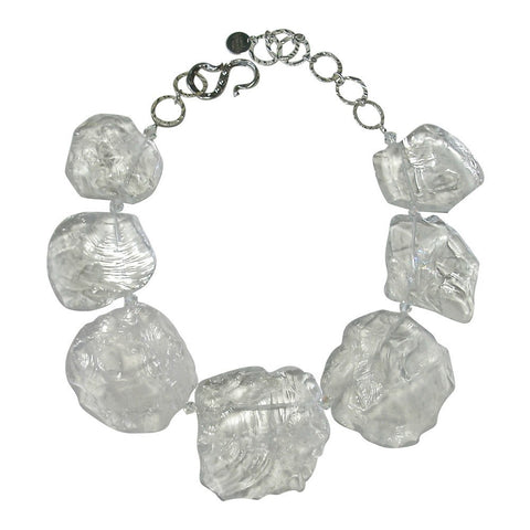 Hand-Chiseled Rock Crystal Necklace