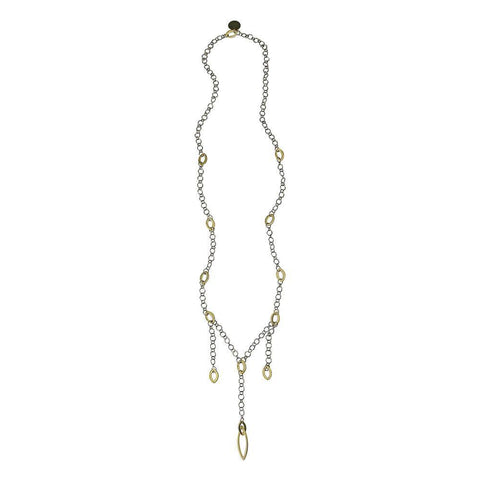 Vulcanized Sterling Silver & Gold Necklace