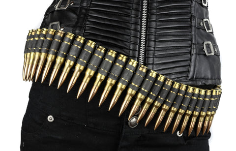 M60 .308 bullet belt - Brass Shell Copper Tips Gun Metal Link