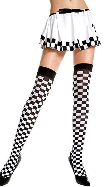 Checkered Graphic Thigh High