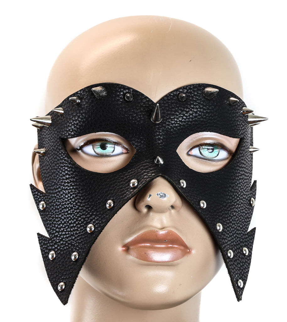 Spike Metal Mask And Elastic Bands Black