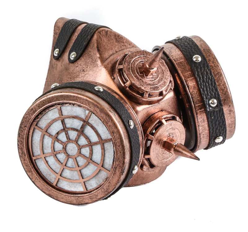 Black Steampunk Spiked Respirator