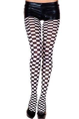 Checkered Graphic Pantyhose