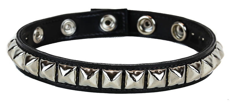 Black Patent 1 Row Black Studded Leather Armlet Armband