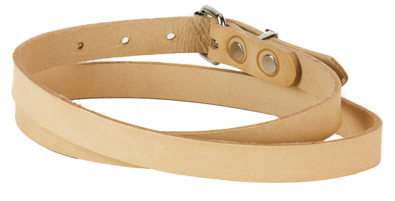 "Genuine Beige Leather Dress Casual Jean Belt  1 1/4"" Width Roller Buckle"