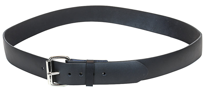 "Genuine Black Leather Dress Casual Jean Belt  1 1/2"" Width Roller Buckle"