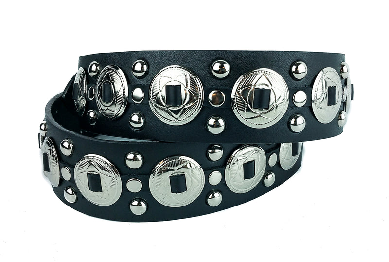 Concho Studded Punk Influenced Belt By Funk Plus