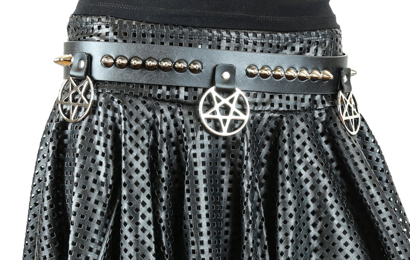 UK77 Studded Pentagram Belt