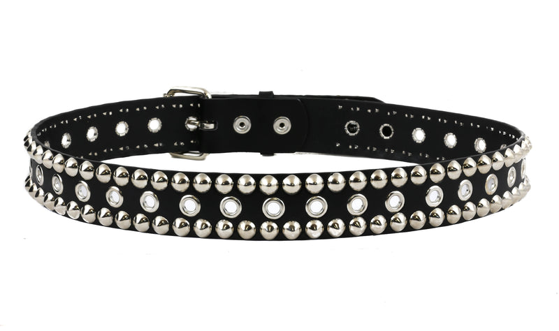 Grommet Conical  Studded Bondage  Belt By Funk Plus