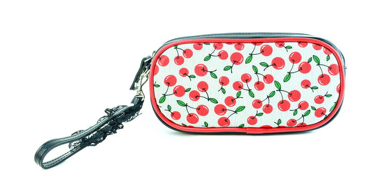 Red Wild Berry Rectangular Shape Cosmetic Bag