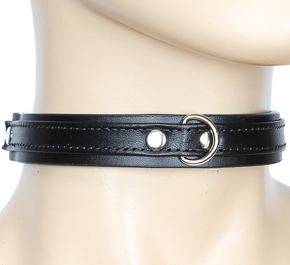 Simple Black Bondage Choker with Clasp