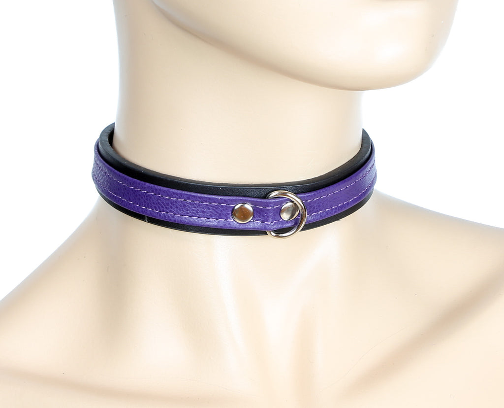 Simple Purple Bondage Choker with Clasp