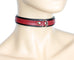 Simple Red Bondage Choker with Clasp