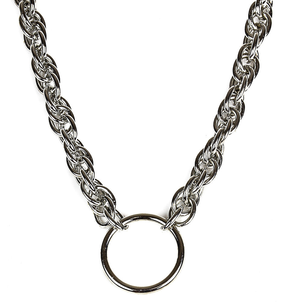 Silver Chain Ring Necklace