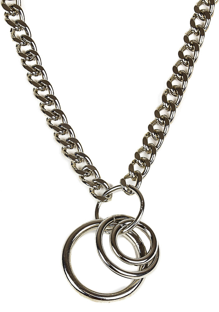 Chained 3 Ring Necklace