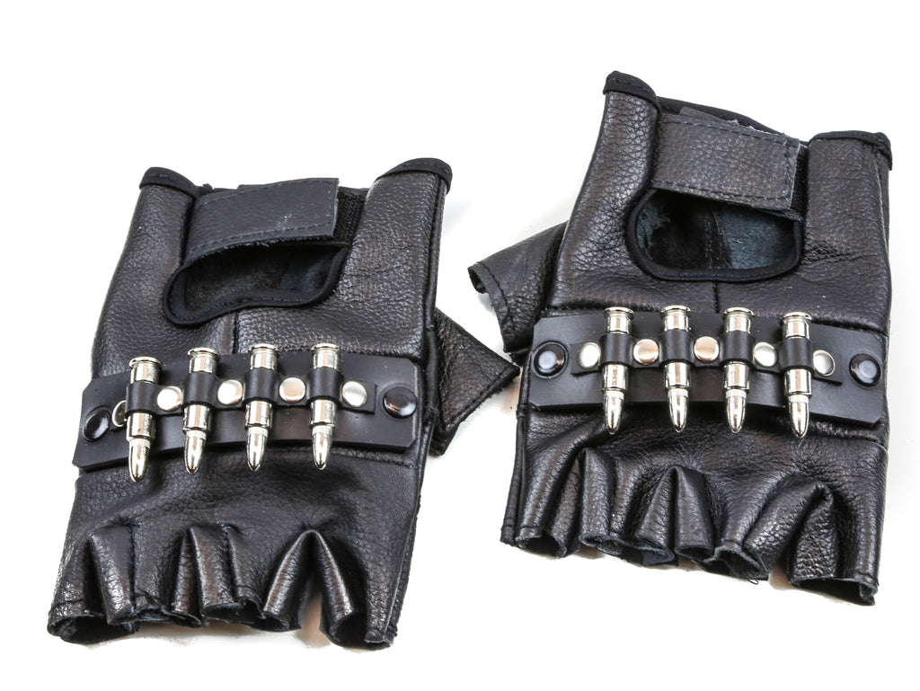 FINGERLESS GLOVES WITH SMALL BULLET