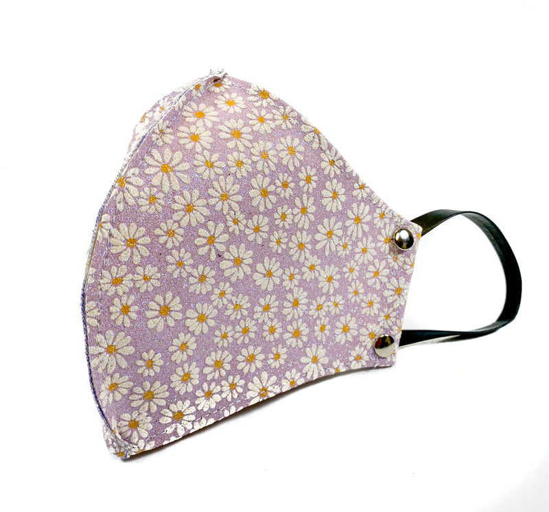 Lavender Glitter Summer Flower Face Mask Mouth Cover Face Cover Mask
