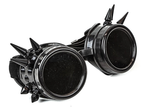 Spiked Steampunk Goggles Glasses Vintage Victorian Welding Cosplay Goth Punk Costume