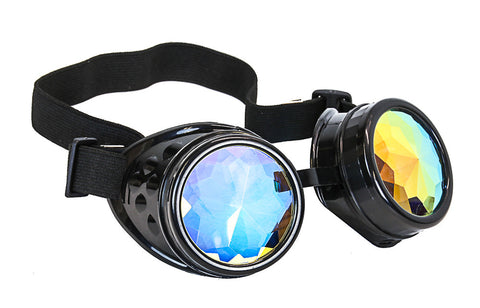 Kaleidoscopic Steampunk Goggles Glasses Vintage Victorian Welding Cosplay Goth Punk Costume