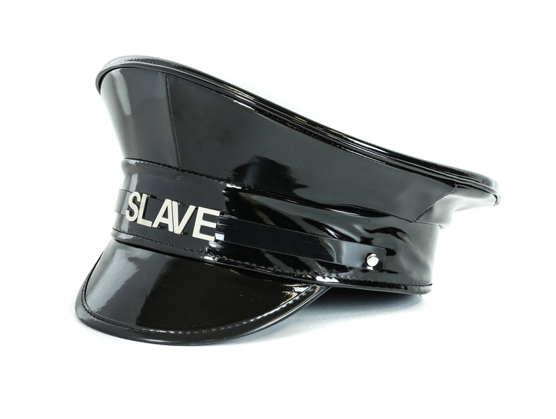 SLAVE Shiny Black Captain Hat