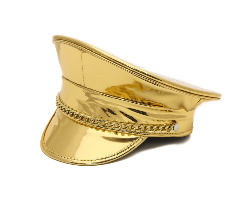 Gold Chain Captain Hat