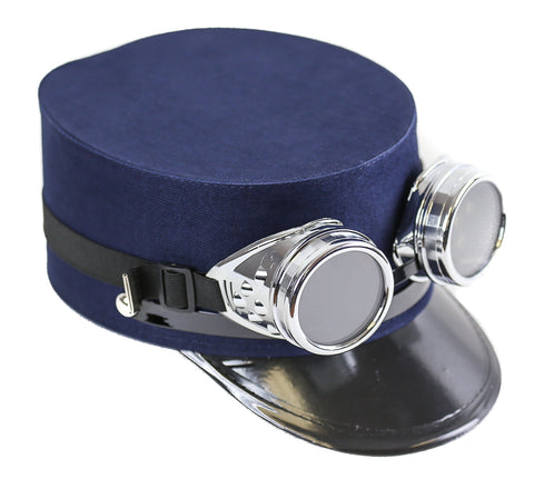 Blue Conductor Cadet Hat With Goggles