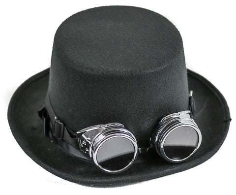 Premium Felt Top Hat With Chrome Goggles