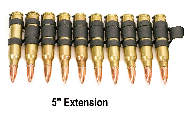 "M16 .223 bullet Belt Extension 5"" 11 Round Brass Shell Copper Tips"