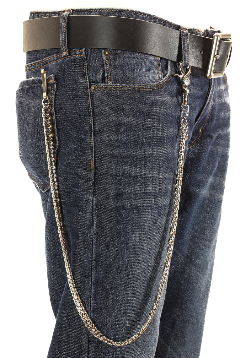 Biker Trucker Twist Diamond Cut Key Jean Wallet Chain