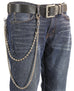 2 Stand Thin and Ball Bikers Trucker Heavy Duty Metal Jean Wallet Chain