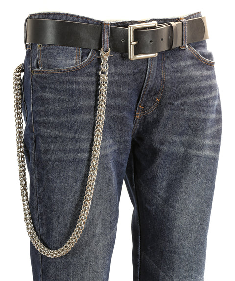 Thick Diamond Cut Bikers Trucker Heavy Duty Metal Jean Wallet Chain