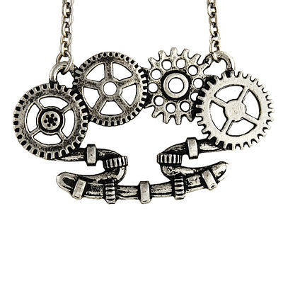 Mechanical Brass Necklace