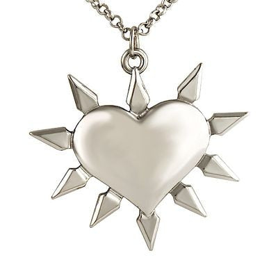 Heart With Spikes Necklace