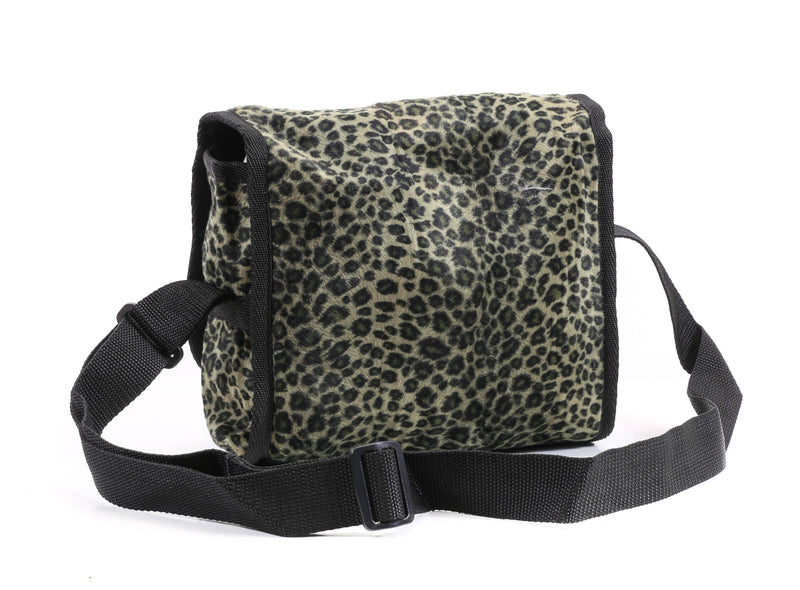 Olive Green  Leopard Medium Size Messenger Bag USA Made