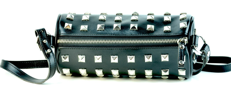 Pyramid Studded Cylinder Bag
