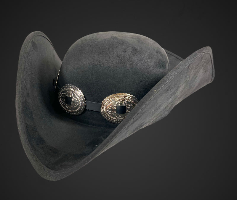 Pirate Hat Steampunk Topper Victorian Mad Hatter Slash Oval Concho Band