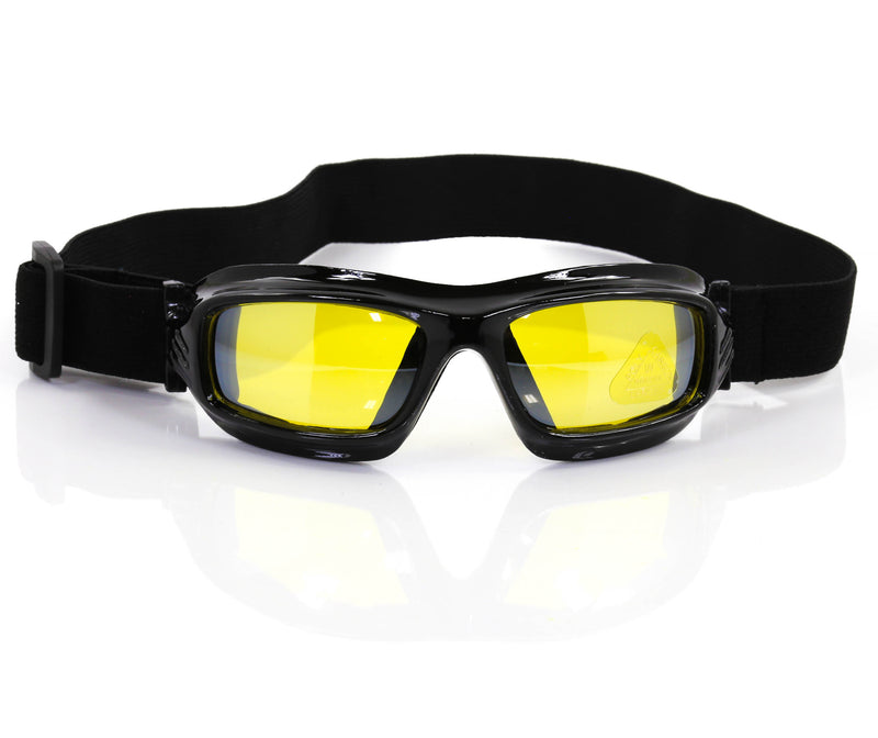 Yellow Lens Aviator Goggles Glasses Vintage Victorian Welding Cosplay Goth Punk Costume