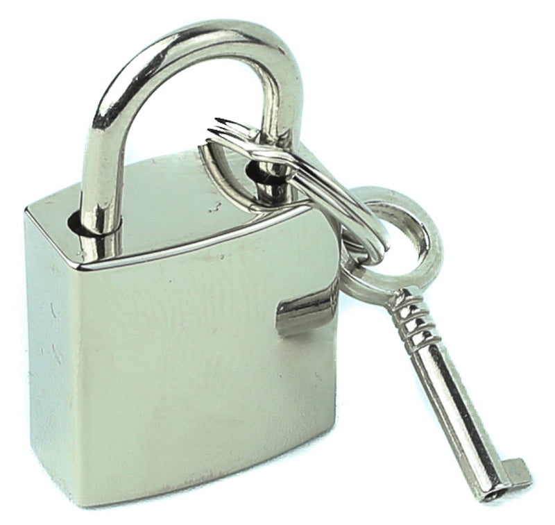 Silver Padlock With Keys