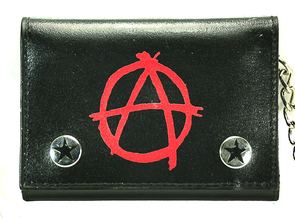 Anarchy Trifold Biker Wallet