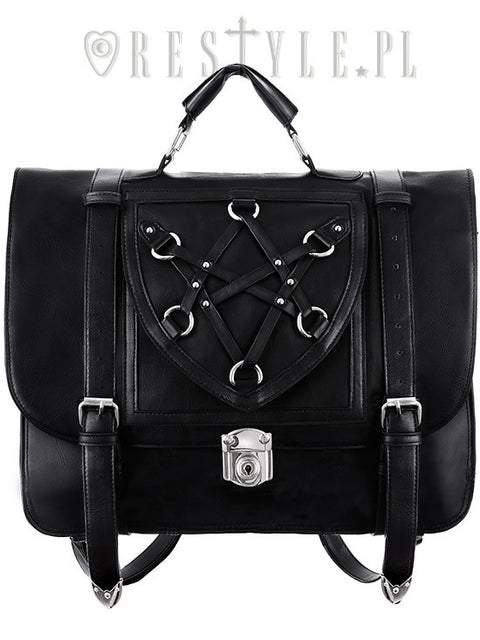 Restyle Gothic Witchcraft HEXAGRAM MESSENGER Expandable 3 Way Bag